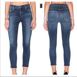 Agolde High Rise Sophie Crop Skinny Jeans